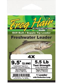 Frog Hair Stiff Butt Tapered Leaders
