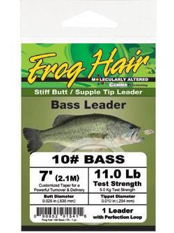 Frog Hair Bass Stiff Butt Tapered Leaders